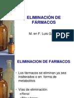 6. ELIMINACIÓN DE FÁRMACOS