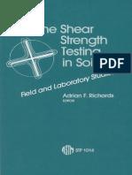 Vane Shear Strenght Tests