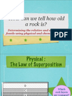 3  age of rocks