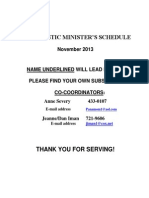 Eucharistic Ministers November 2013