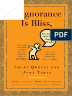 If Ignorance Is Bliss, Why Aren't There More Happy People? by John Lloyd and John Mitchinson - Excerpt