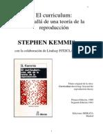 KEMMIS Stephen. El Curriculum - Mas Alla de Una Teoria de La Reproduccion