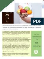 pregnancy nutrition flyer