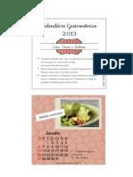 Calendário gastronômico 2013 completo
