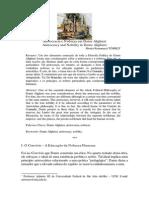 TORRES, Moises Romanazzi. Aristocracia e Nobreza Em Dante Alighieri