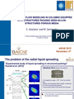 Two-phase flow in structured packing