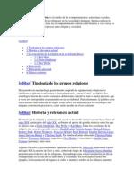 La sociología de la religión es el estudio de los comportamientos