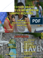 A STUDY ON BRAND LOYALTY OF SPORTSWEAR AMONG RUNNERS