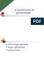 Les Syndromes en Gynecologie