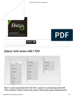 jQuery style menu with CSS3 «