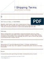 Glossary of Shipping Terms -- C