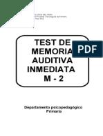 Manual Del Test de Memoria Auditiva - Ninhos