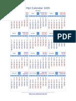 1435 -Hijri Calendar-English,Malayalam,Tamil,Hindi without moon phases