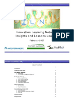 2007 Innovation Learning Network Toolkit