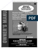 Krystal Clear Sand Filter Pump 14in & Saltwater System - Model CS15110