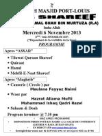 Poster-Urs Syed Peer Jamal Shah (R.A)
