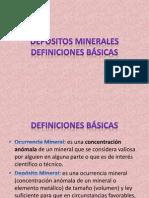 DEPÓSITOS MINERALES - DEFINICIONES BÁSICAS