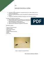 Dilatacion Lineal de Un Solido