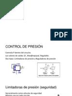 VALVULAS DE CONTROL DE PRESIÓN