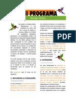 Programa concejería Fech 2014 Rodrigo Muñoz Alburquerque II Luchar - Lista C