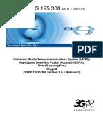 3GPP-HSDPA Overall Description 25.308 v09