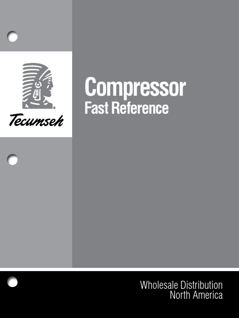fast reference of tecumseh wholesale compressors pdf | heating,  ventilating, and air conditioning | gases