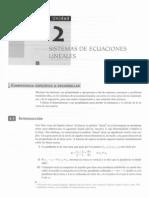 Unidad 2 Sistemas de Ecuaciones Lineales