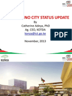 KONZA TECHNO CITY STATUS UPDATE
