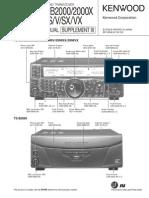 KENWOOD Ts 2000 x Service Manual 2008