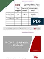 WCDMA UE Behaviors in Idle Mode.pdf