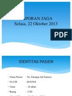 laporan jaga interna, 21 OKT 2013