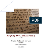 Keeping the Sabbaths Holy