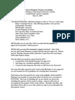Board Minutes 05-19-2009