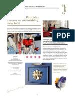 Presse release Hotel du Pantheon September 2013