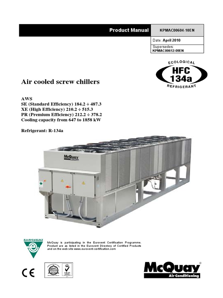 Air cooled screw chillers awspdf air conditioning heat exchanger cheapraybanclubmaster Choice Image