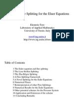 On Flux Vector Splitting for the Euler Equation