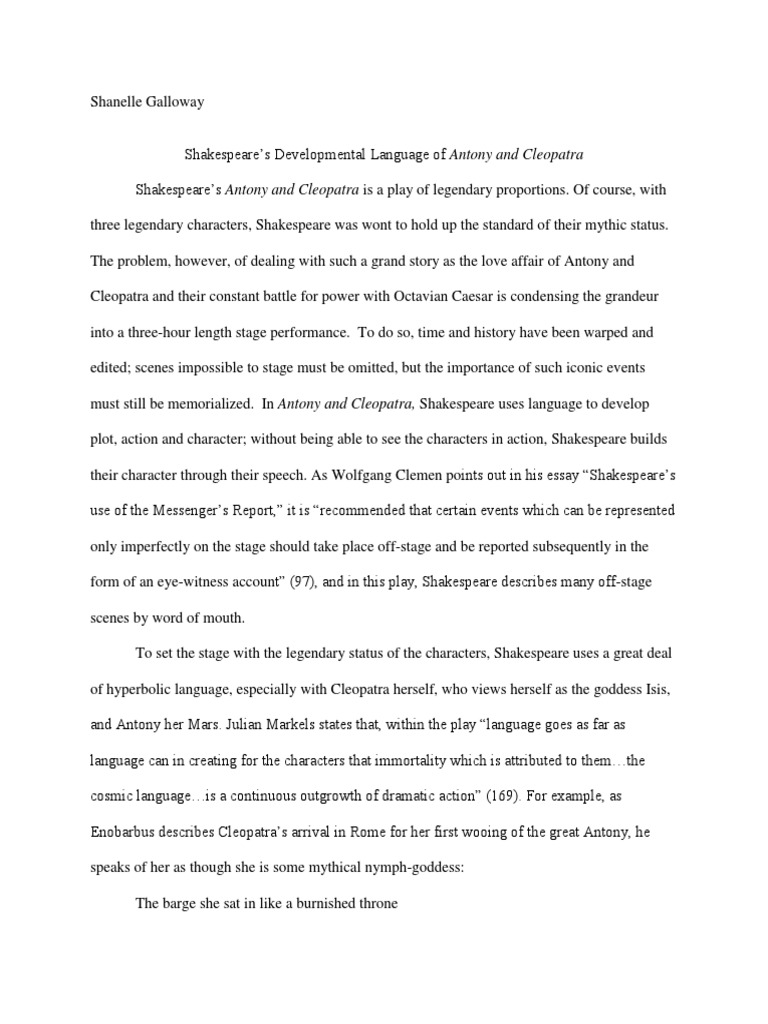 language of shakespeare s antony cleopatra mark antony cleopatra