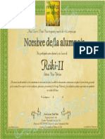 Certificado Reiki-II por Reikistas en la Red_Cartagena