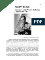 Albert Camus Discurso de Aceptaci n Del Premio Nobel 1957