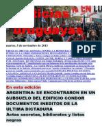 Noticias Uruguayas Martes 5 de Noviembre Del 2013