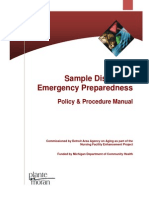 Sample Disaster Emergency Preparedness Manual