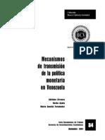 Mecanismos de transmisión de la Política Monet en Vzla.pdf