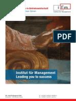 IfM Bachelor-Programm in Betriebswirtschaft
