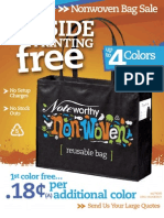Reusable Nonwoven Bags - 2nd Side Free