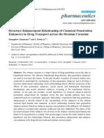 Structure Enhancement Relationship of Chemical Penetration  Enhancers in Drug Transport across the Stratum Corneum .pdf