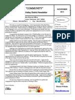 MonValley District Newsletter November 2013