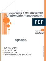 Presentation on Customer Relationship Management