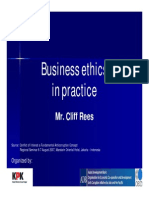 Business Ethics in Practice