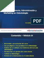 Curso de Gerencia, Administración y Marketing en Odontología Clase 01