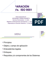 Comparaci+¦n BPM Vs. Iso 9001